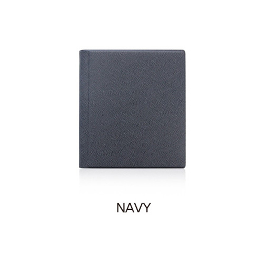 Navy - Fenice Premium PU business card book holder case