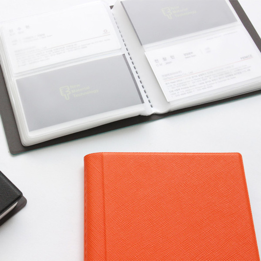 Example of use - Fenice Premium PU business card book holder case