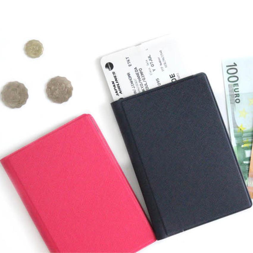 Example of use - Fenice Premium PU RFID blocking small passport case holder wallet