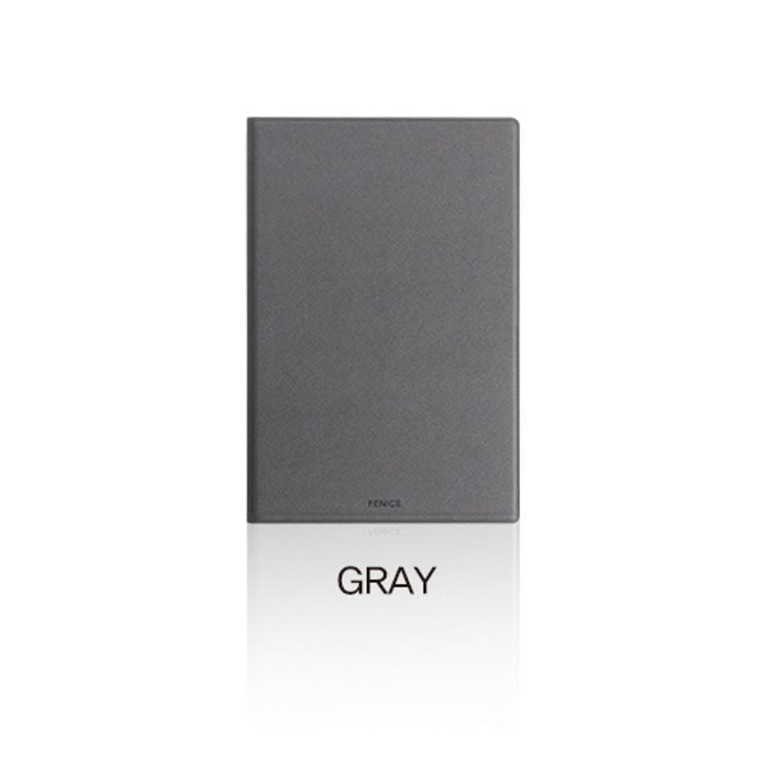 Gray - Fenice Premium PU business A5 size notepad holder organizer