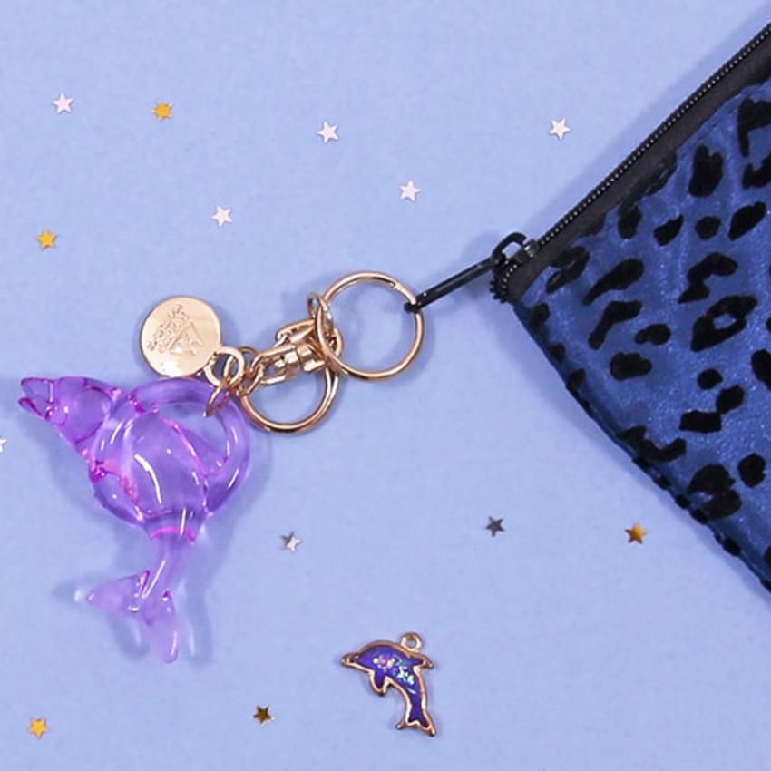 Zipper pouch - Second Mansion Bonjour leopard zipper pencil pen case pouch