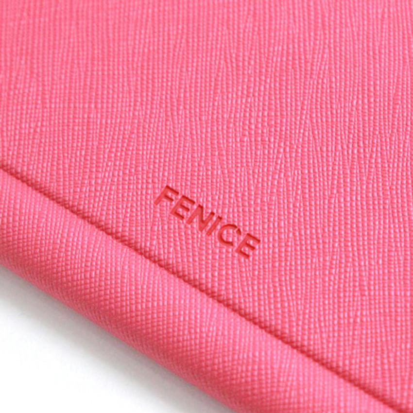 Fenice Premium PU large passport case holder zipper wallet