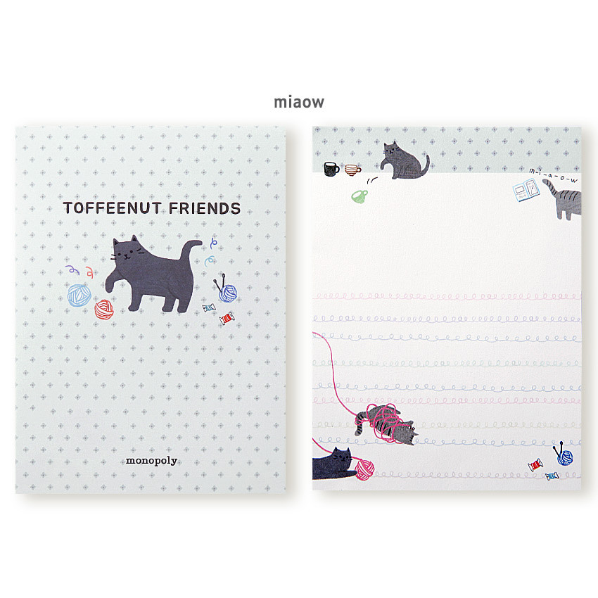 Miaow - Monopoly Toffeenut sweet and warm illustration letter memo notepad