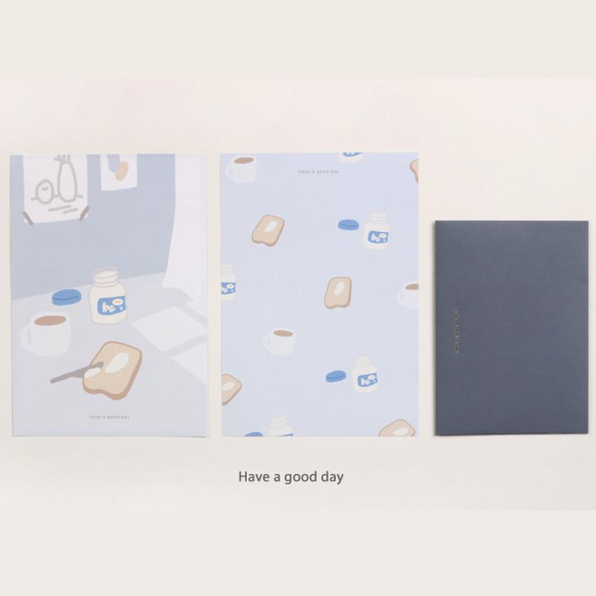 Have a good day - My illustration letter always thank you envelope set