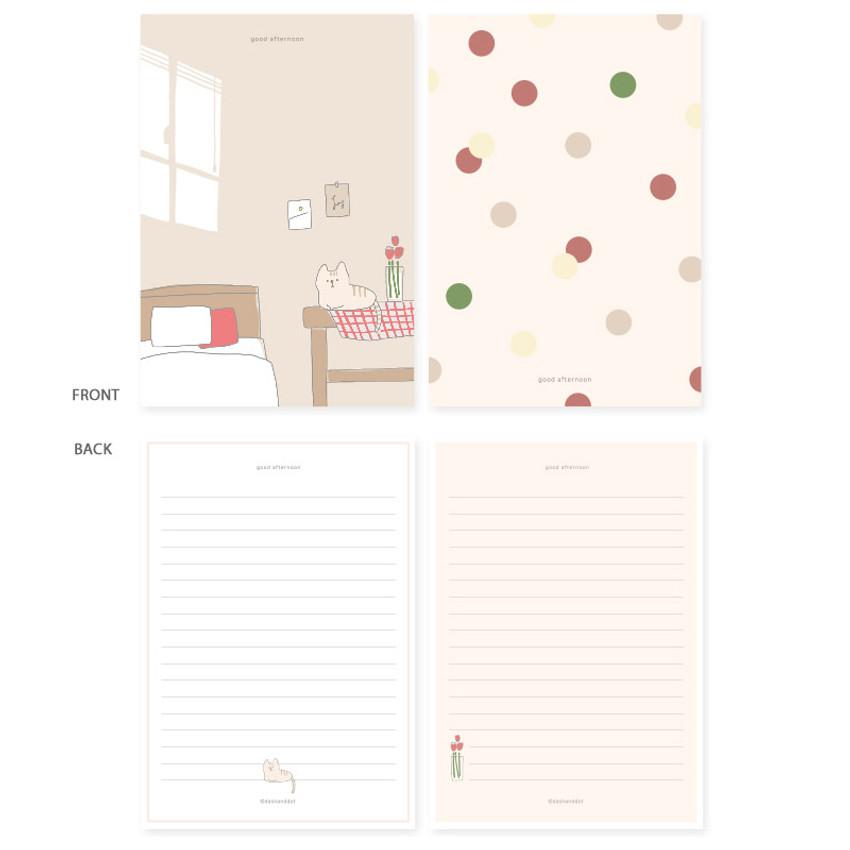 Good afternoon - My illustration letter always thank you envelope set
