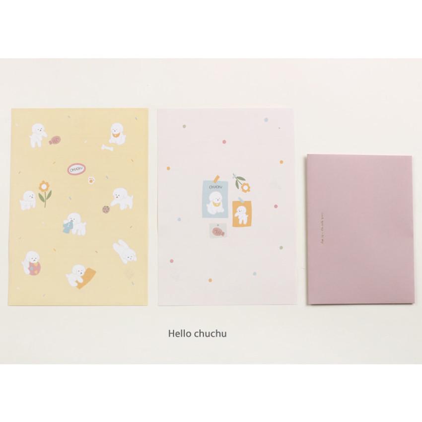 Hello chuchu - My illustration letter always thank you envelope set