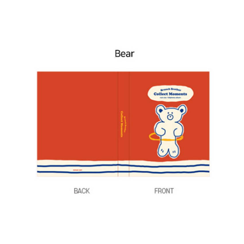 Bear - ROMANE Brunch brother 4X6 slip in pocket photo album