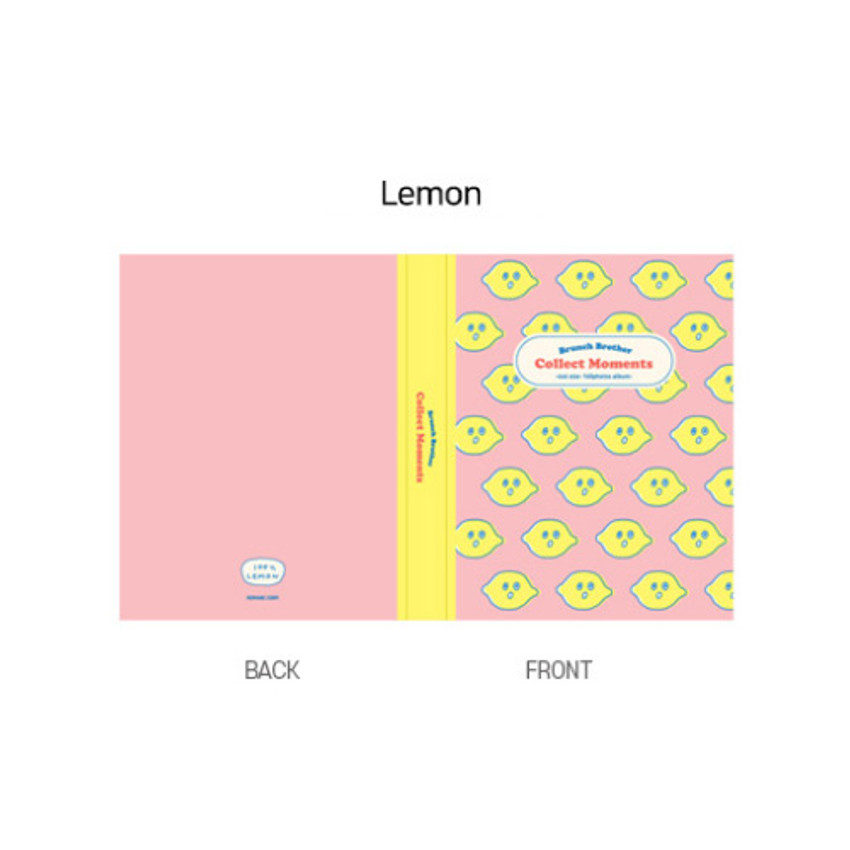 Lemon - ROMANE Brunch brother 4X6 slip in pocket photo album