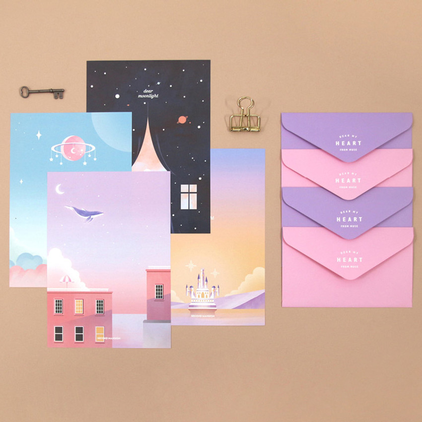 Second Mansion Moonlight letter paper envelope set
