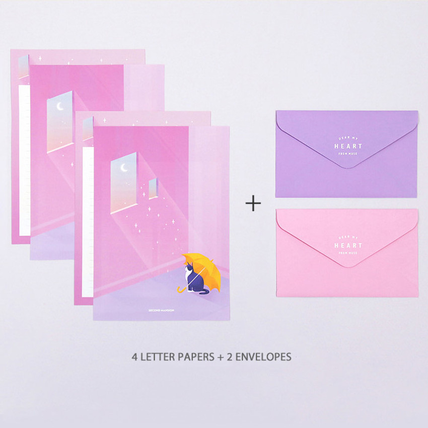 Composition - Second Mansion Moonlight letter paper envelope set
