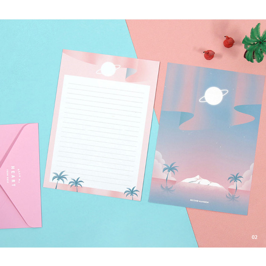 02- Second Mansion Moonlight letter paper envelope set ver2