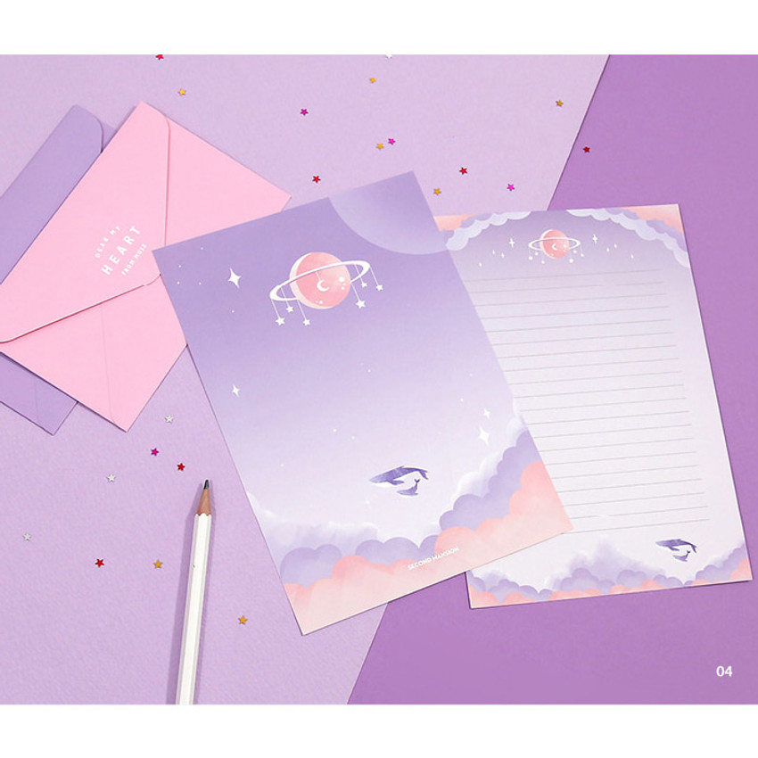 04 - Second Mansion Moonlight letter paper envelope set ver2