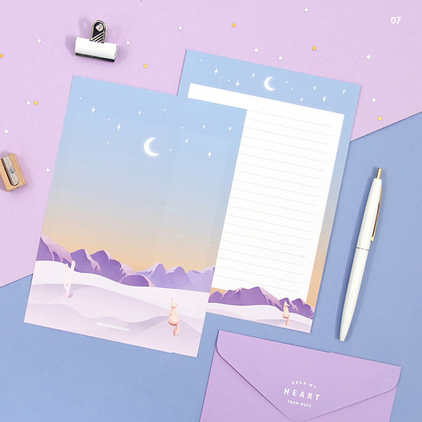 07 - Second Mansion Moonlight letter paper envelope set ver2