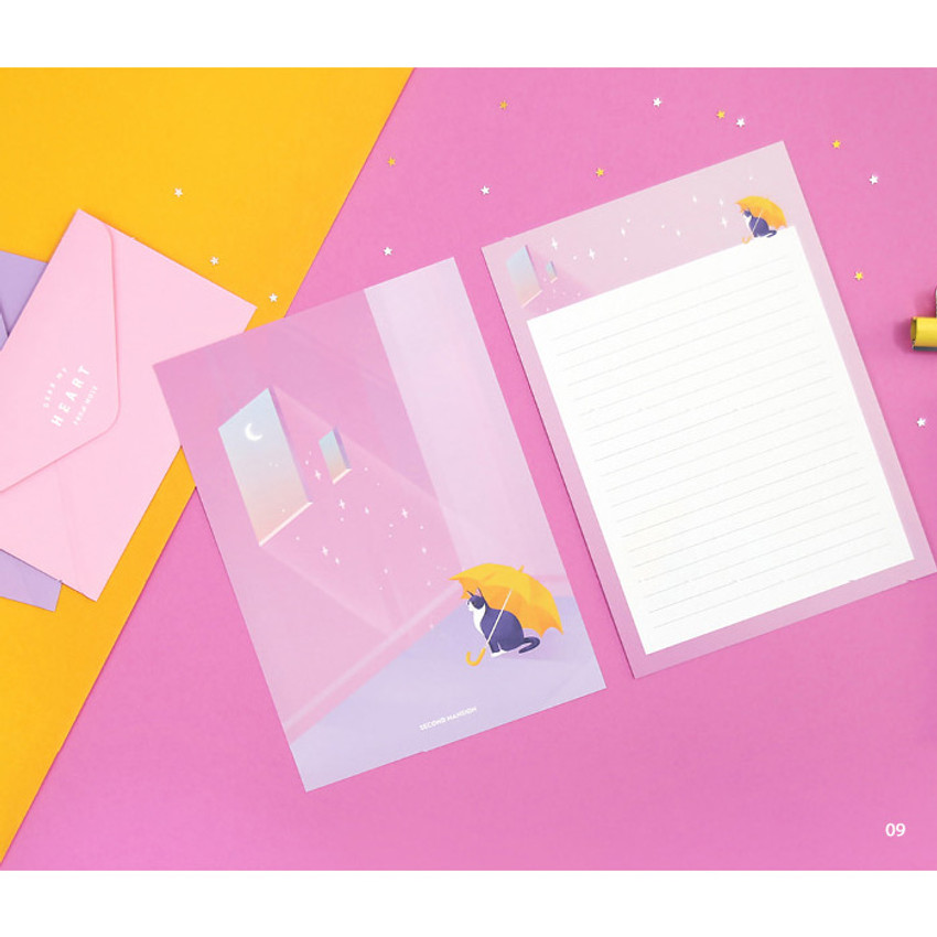 09 - Second Mansion Moonlight letter paper envelope set ver2