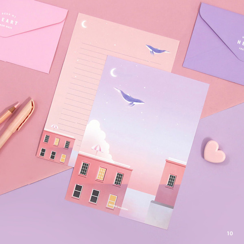 10 - Second Mansion Moonlight letter paper envelope set ver2
