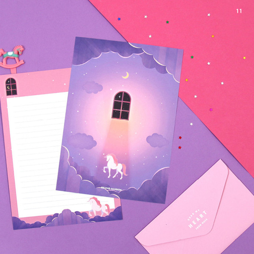 11 - Second Mansion Moonlight letter paper envelope set ver2