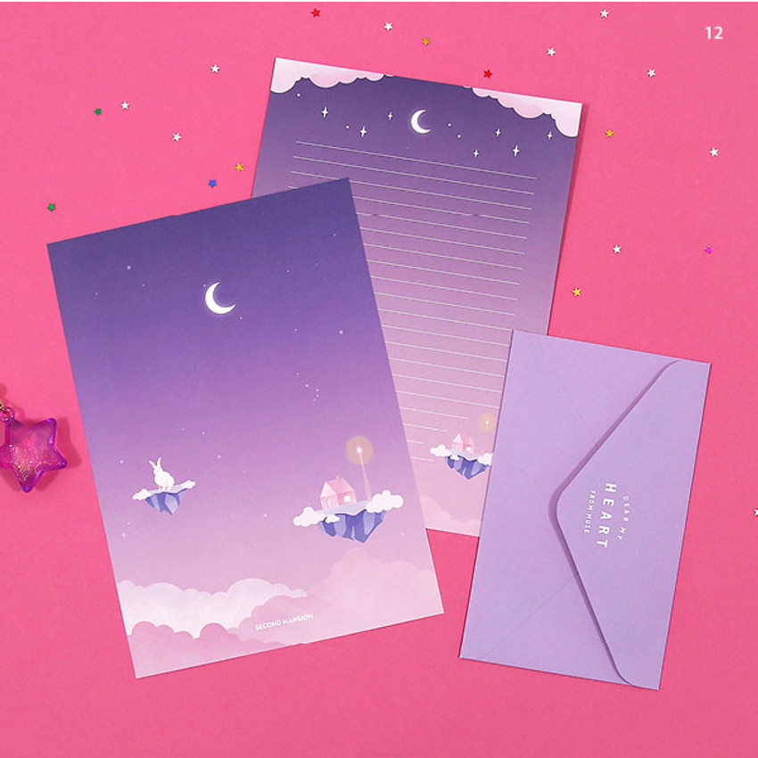 12 - Second Mansion Moonlight letter paper envelope set ver2