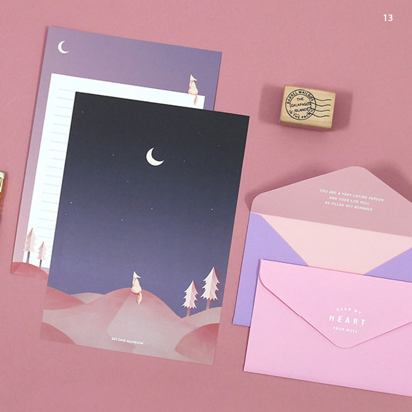 13 - Second Mansion Moonlight letter paper envelope set ver2