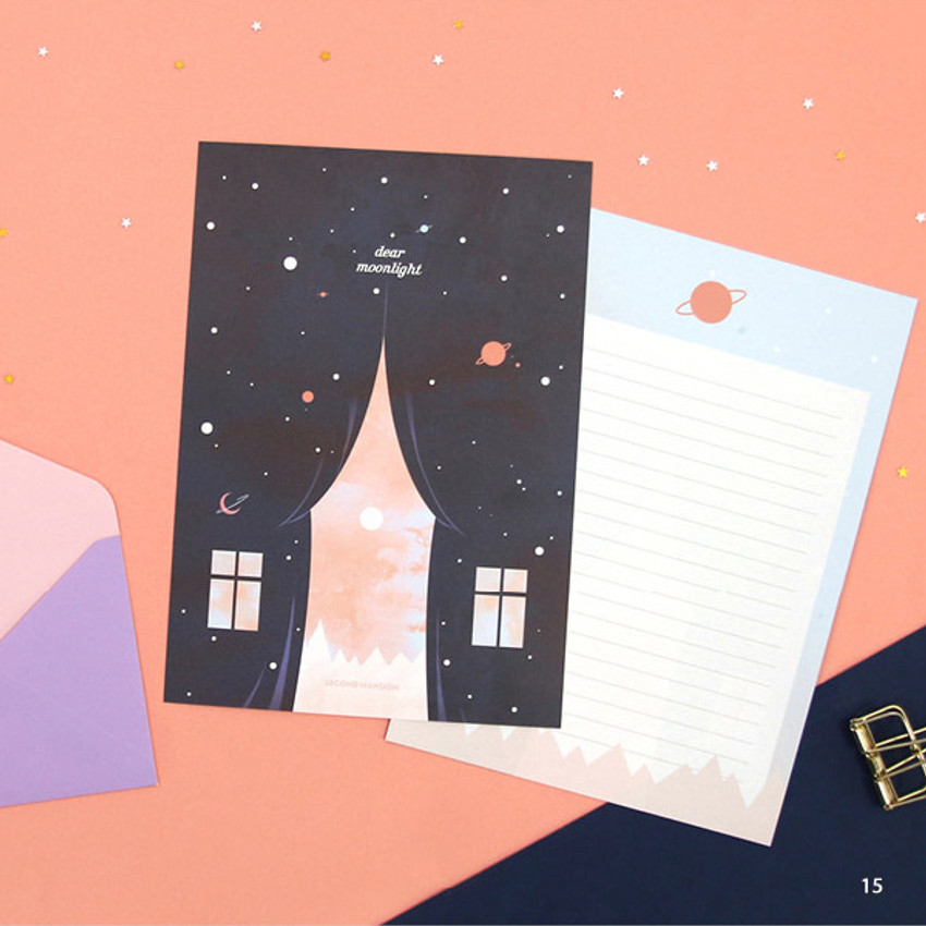 15 - Second Mansion Moonlight letter paper envelope set ver2