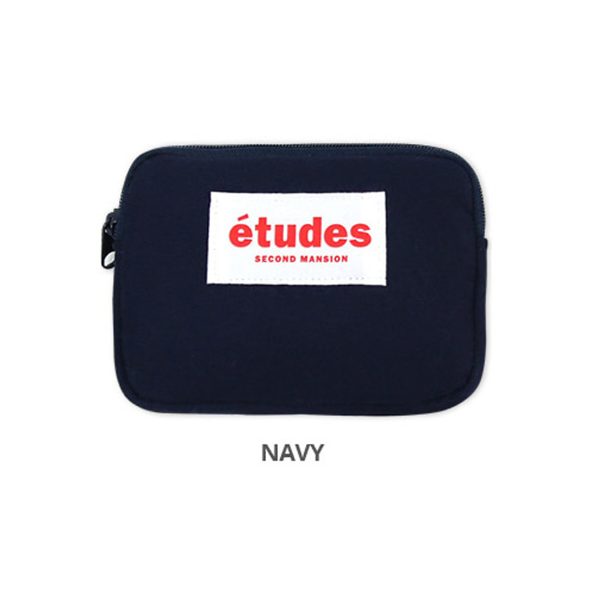 Navy - Second Mansion Etudes zipper card case wallet ver2