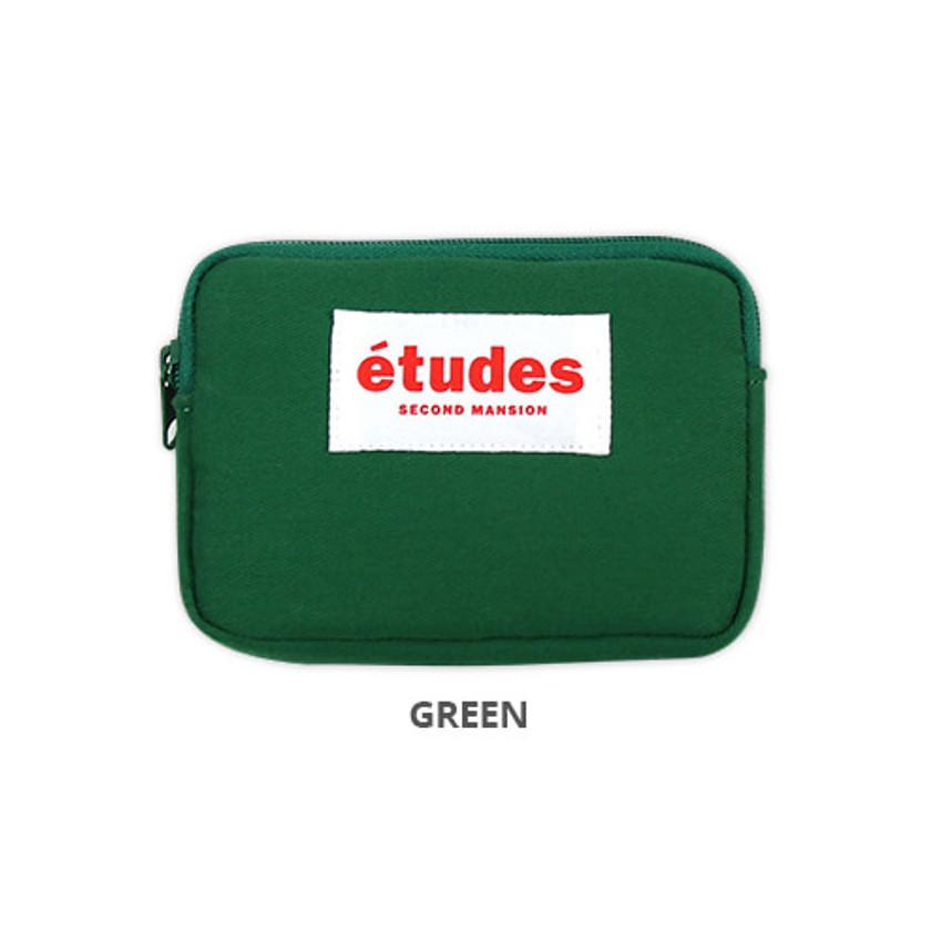 Green - Second Mansion Etudes zipper card case wallet ver2
