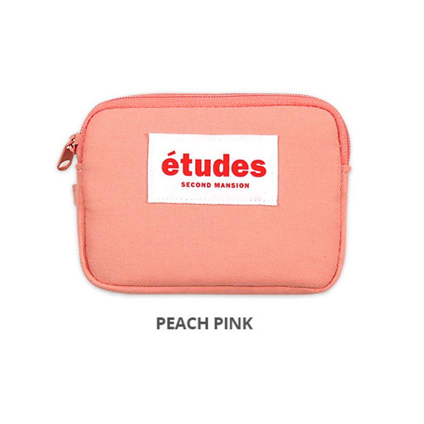 Peach pink - Second Mansion Etudes zipper card case wallet ver2