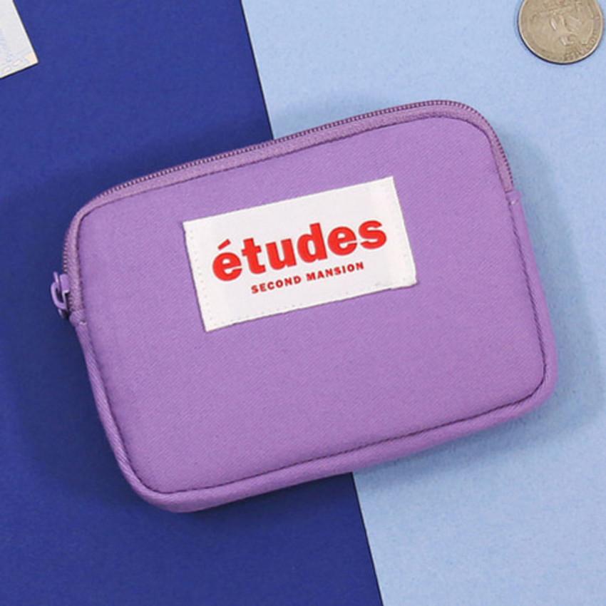 Lavender - Second Mansion Etudes zipper card case wallet ver2