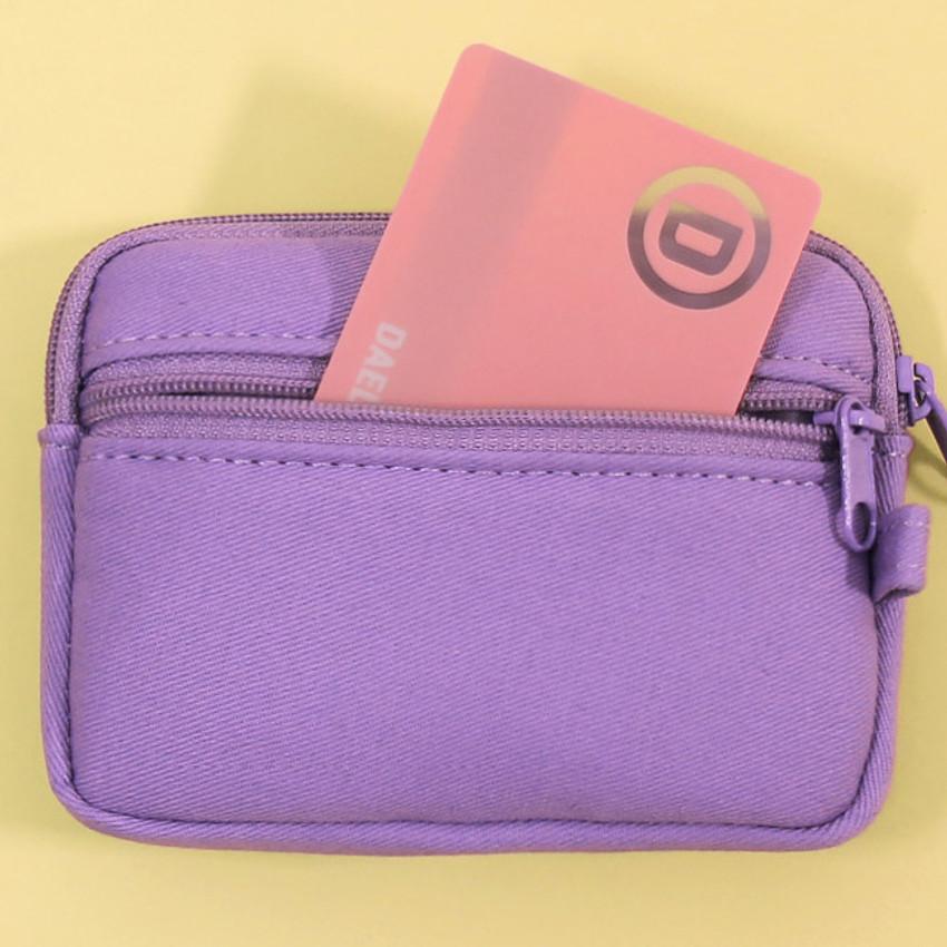 Back zipper pocket - Second Mansion Etudes zipper card case wallet ver2