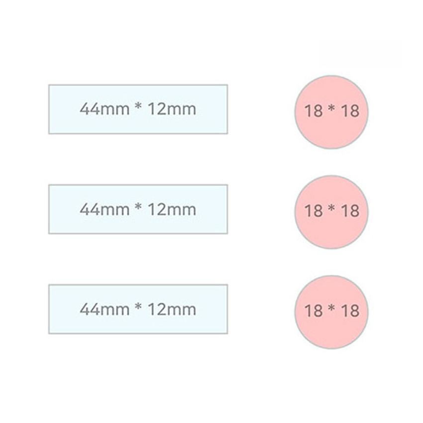 Size - PLEPLE illustration sticky it bookmark memo notepad set