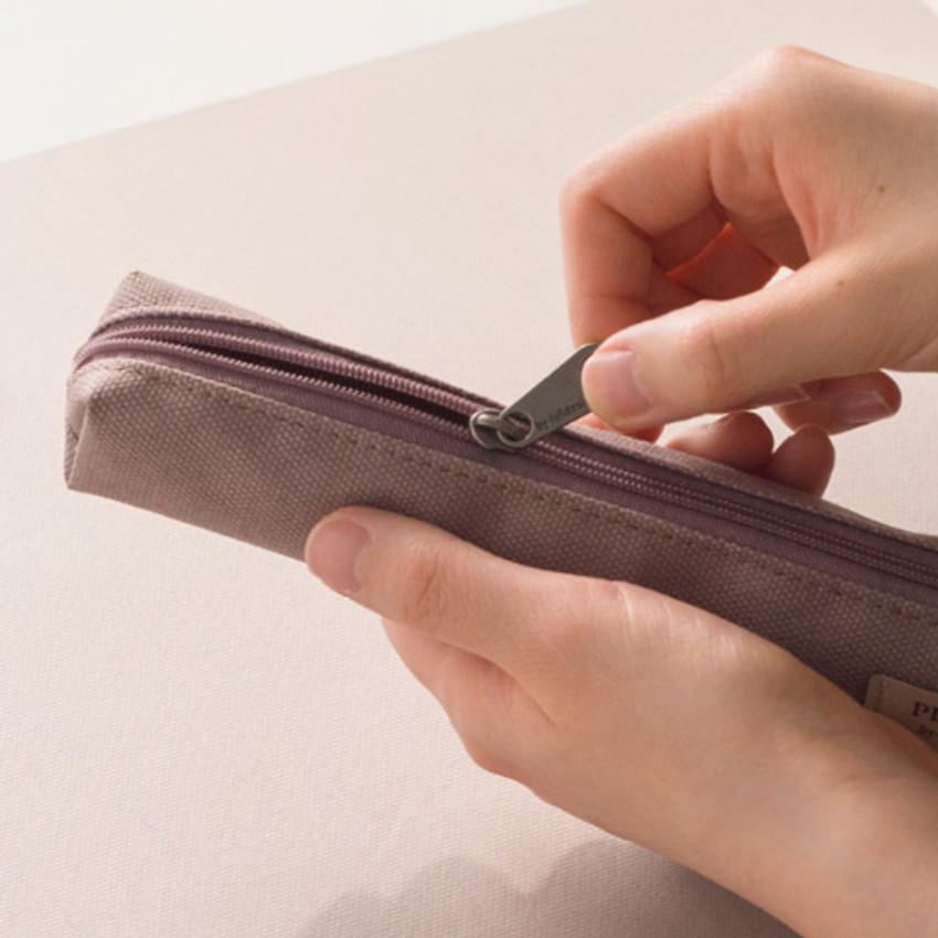 Zipper closure - Byfulldesign Oxford single zipper pencil case pouch ver4