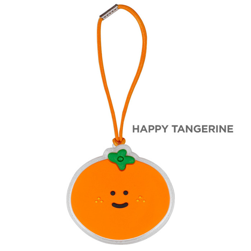 Happy tangerine - 90s coolkids party fake food travel luggage name tag