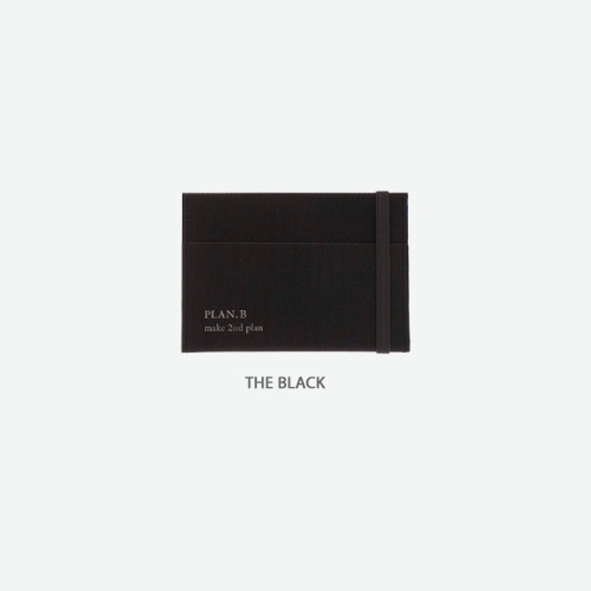 The black -Byfulldesign Oxford palm flat card case wallet
