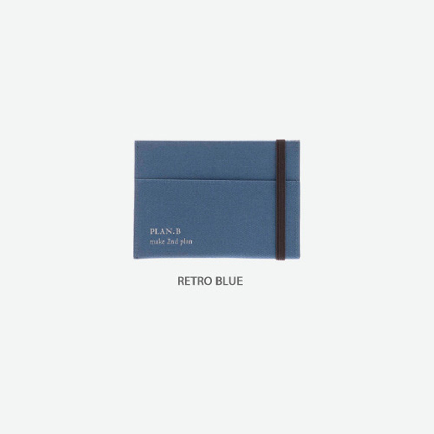Retro blue - Byfulldesign Oxford palm flat card case wallet