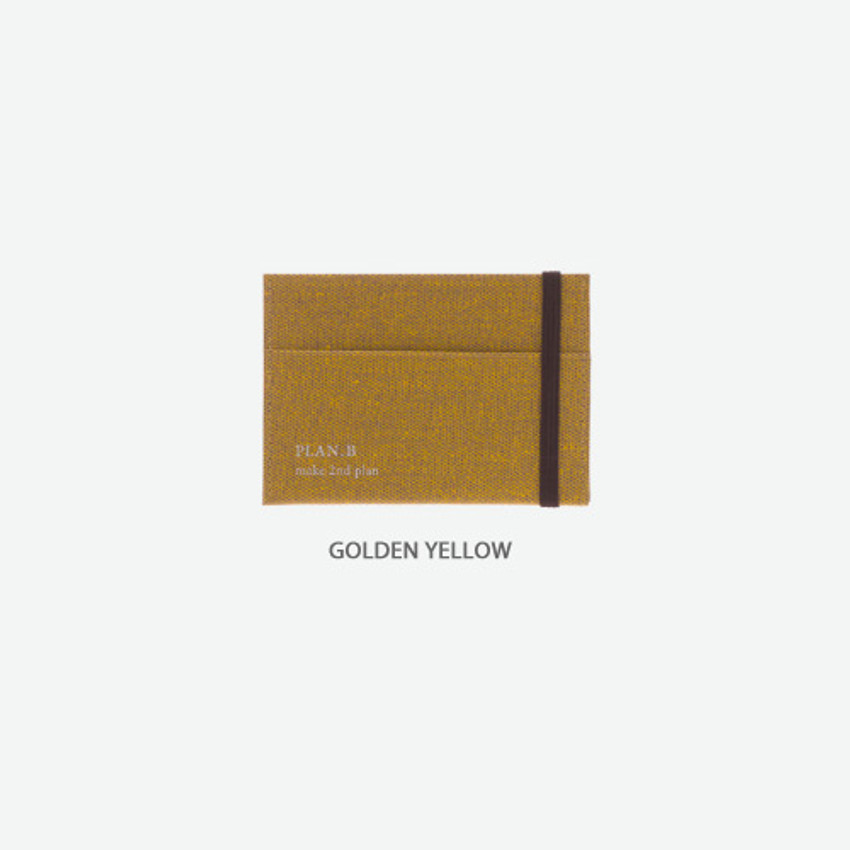Golden yellow - Byfulldesign Oxford palm flat card case wallet