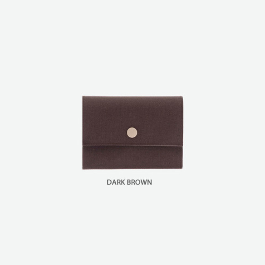 Dark brown - Byfulldesign Oxford palm small pouch card wallet