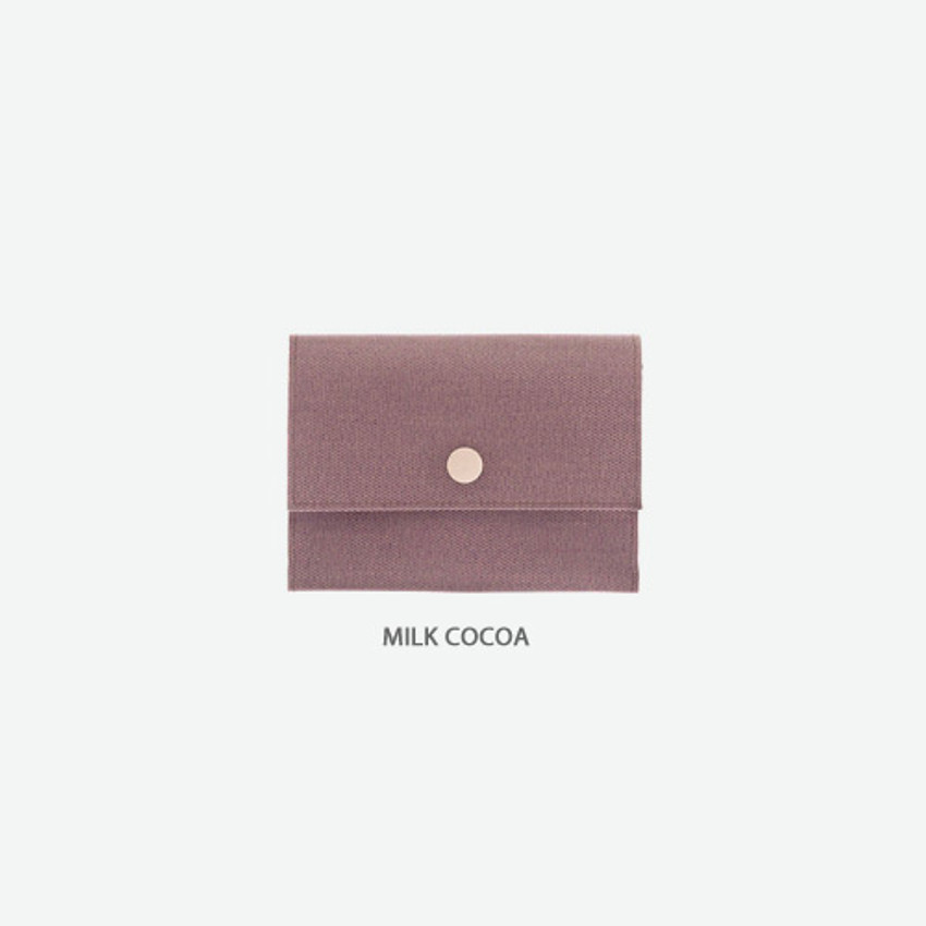 Milk cocoa - Byfulldesign Oxford palm small pouch card wallet