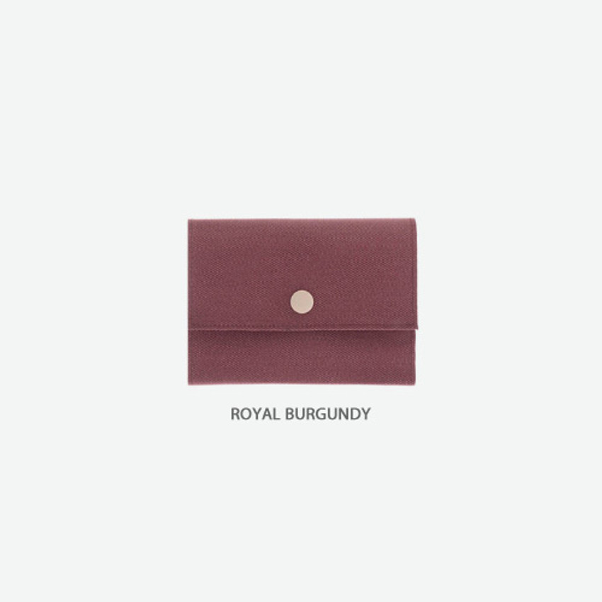 Royal burgundy - Byfulldesign Oxford palm small pouch card wallet