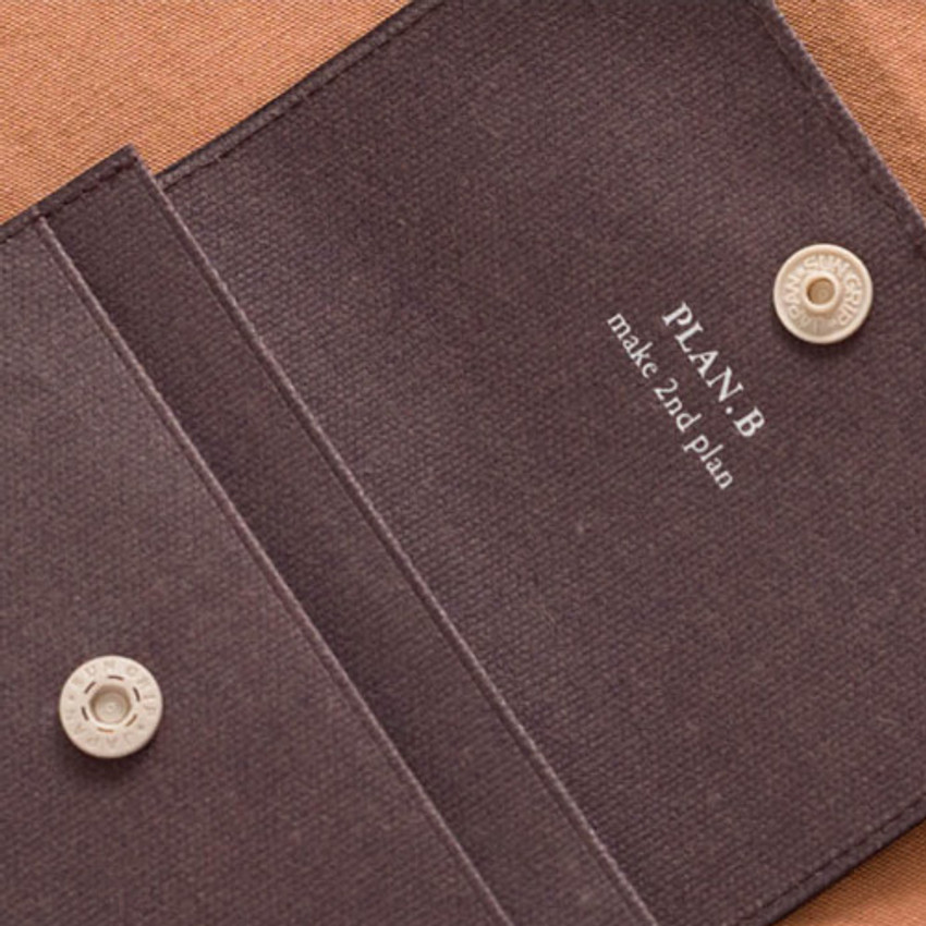 Snap button - Byfulldesign Oxford palm small pouch card wallet