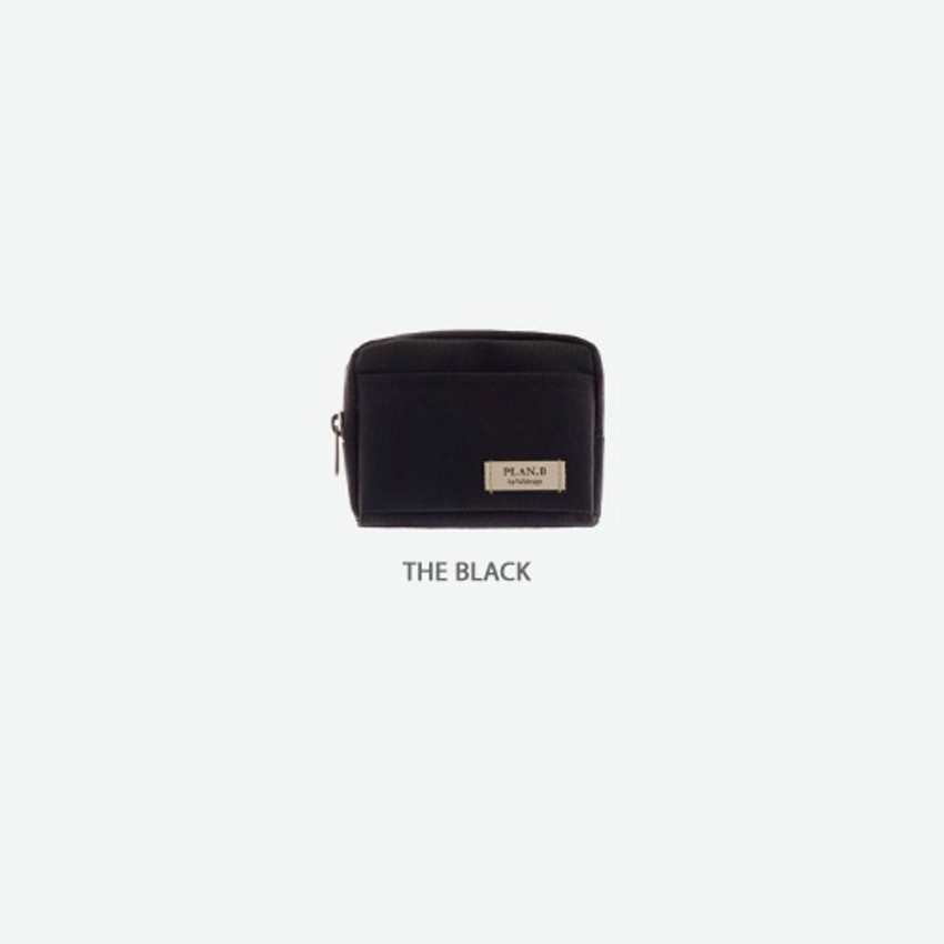 The black - Byfulldesign Oxford multi small pocket zipper pouch ver2