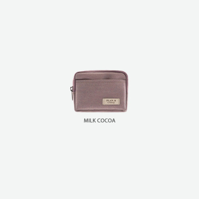 Milk cocoa - Byfulldesign Oxford multi small pocket zipper pouch ver2