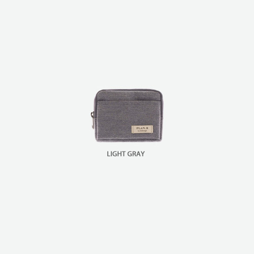Light gray - Byfulldesign Oxford multi small pocket zipper pouch ver2