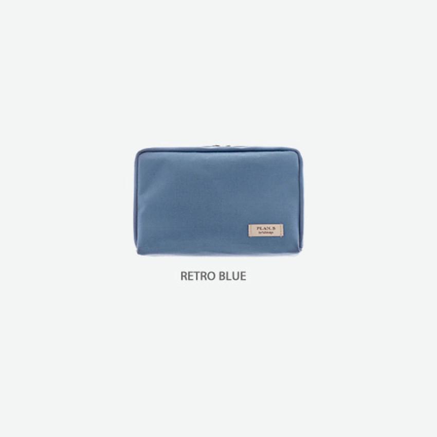 Retro blue - Byfulldesign Oxford basic bank pocket pouch ver4