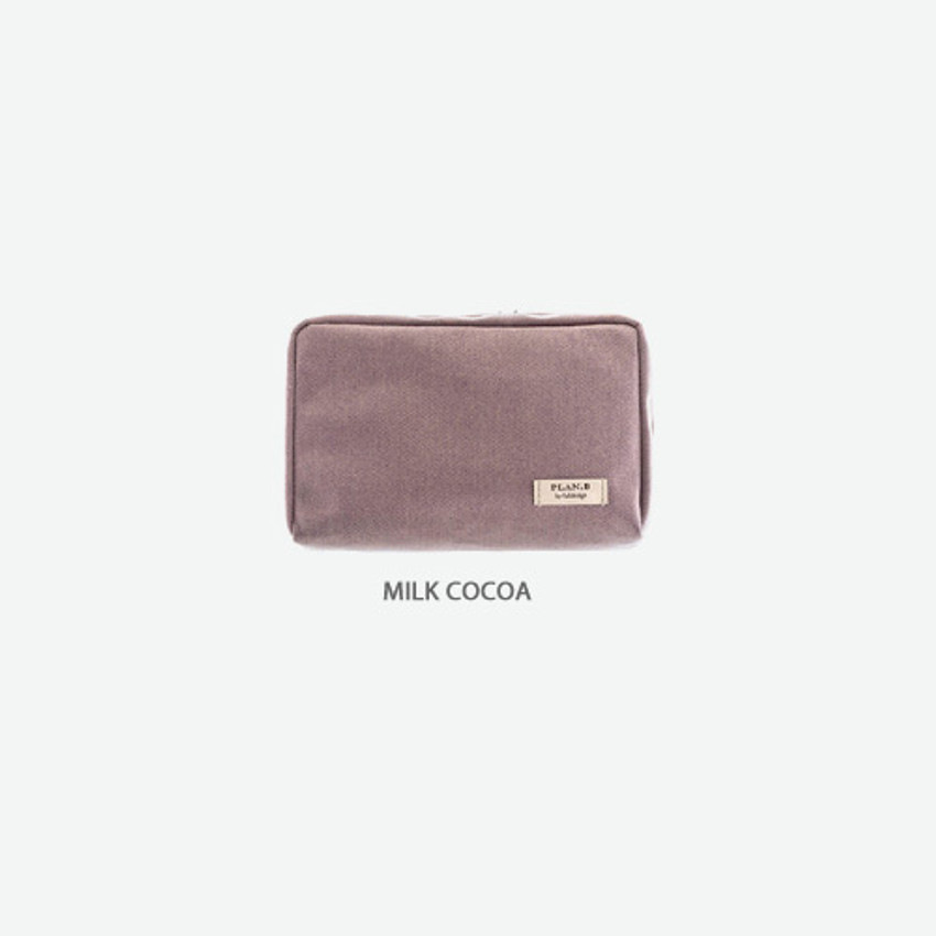 Milk cocoa - Byfulldesign Oxford basic bank pocket pouch ver4