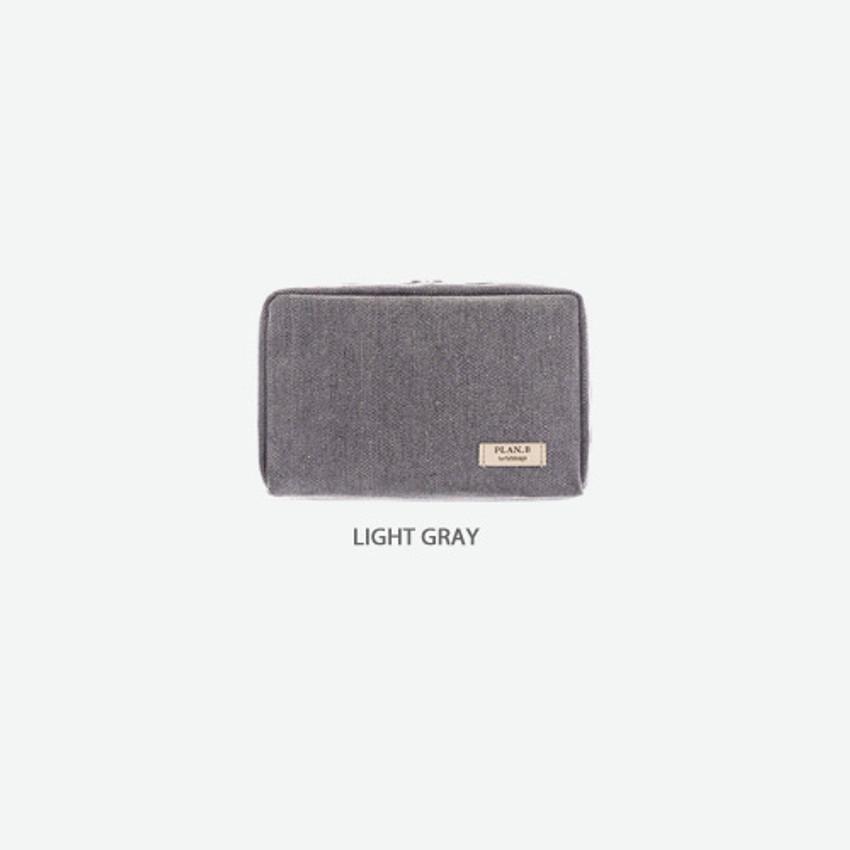 Light gray - Byfulldesign Oxford basic bank pocket pouch ver4