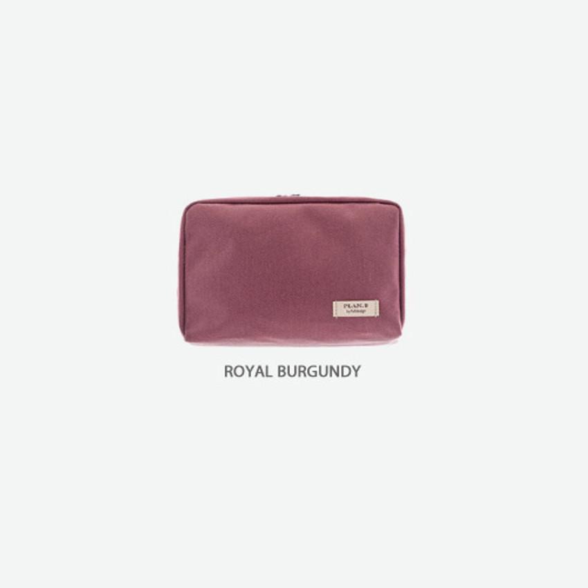 Royal burgundy - Byfulldesign Oxford basic bank pocket pouch ver4