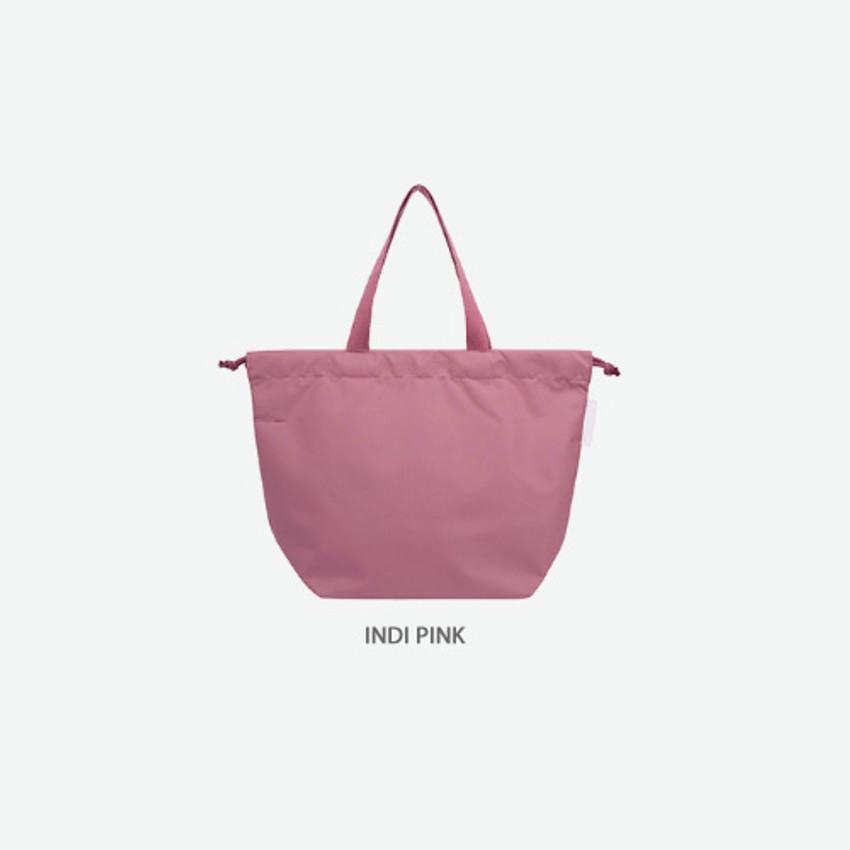 Indi pink - Travelus air bag drawstring medium shoulder tote bag
