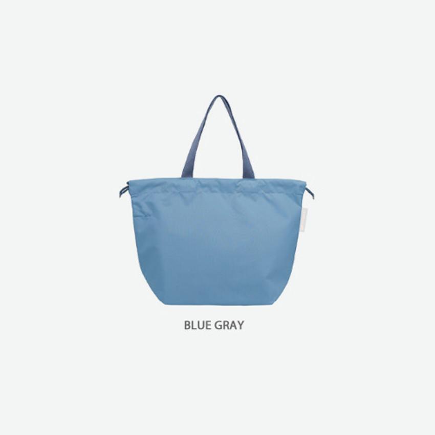 Blue gray - Travelus air bag drawstring medium shoulder tote bag