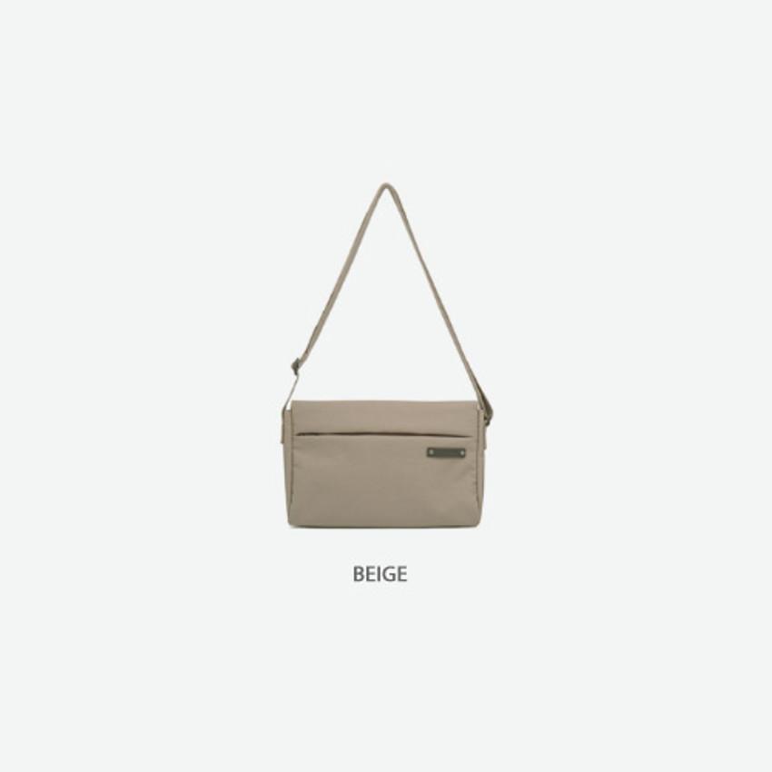 Beige - Byfulldesign Travelus minimal crossbody bag for walking