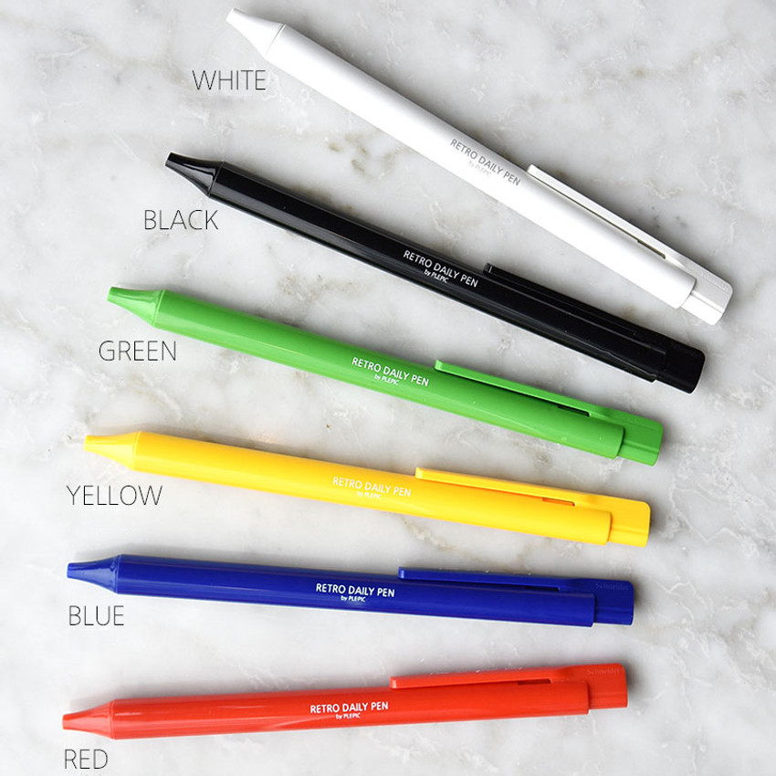 Color - Play obje Retro daily 1mm black ballpoint pen
