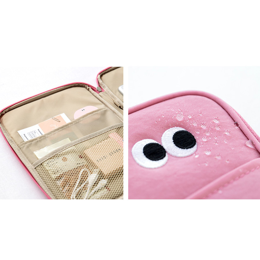 Water resistant - Livework Som Som pocket tablet iPad zip fabric pouch